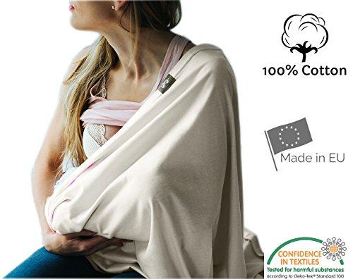 Stilltuch, endloser Schal zum Stillen aus atmungsaktiver Bio-Baumwolle