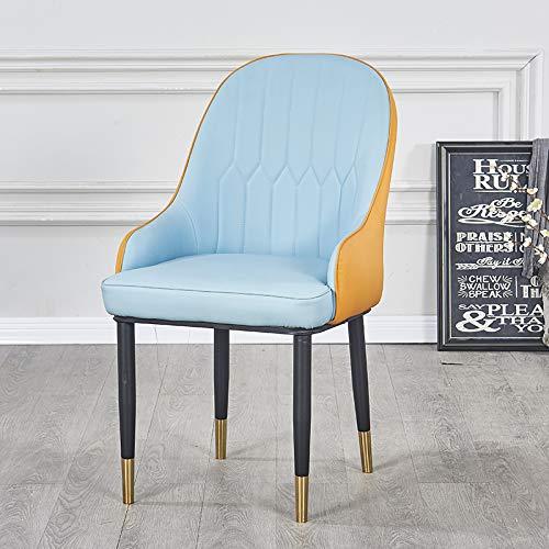JYHYGS Metalen ontbijtkruk, barkruk met lederen kussens, stoel met vergulde metalen poten stoelen eetstoelen rugleuning en gevoerde zitting