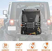 Spare Tire Trash Bag, JoyTutus Upgraded Fits 40