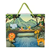 Material Type: Paper, 220 GSM with Rope Handle. Eco Friendly Biodegradable attractive gifting carry bags Size: 25.3 x 22 x 7.7 CM Africa Carry bag - Kids Design. A Beautiful Carrybag, Perfect For Gifting Smaller Items Package Contains: Pack of 5 Piec...