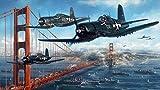 ZASX Puzzle 1000 Piezas ,Aviones Militares de la Segunda Guerra Mundial ,Rompecabezas Adultos Rompecabezas Regalo para Niños Adultos,Decoración Hogareña Mural -75 * 50CM