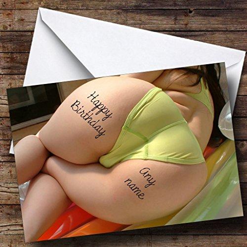 Big Bum Tattoo Gepersonaliseerde Verjaardagskaart
