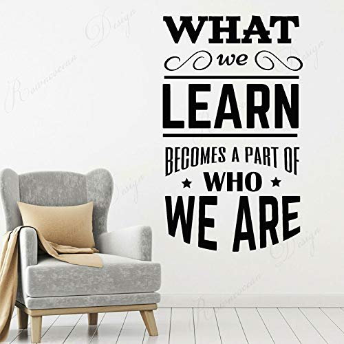 wZUN Wall stickers school classroom quote phrases phrase lettering vinyl decals reading room decoration removable 51X85cm