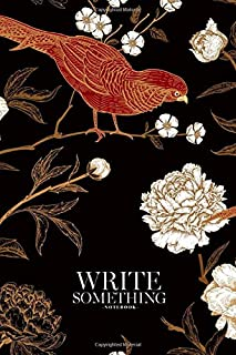 Notebook - Write something: Peonies and pheasants notebook, Daily Journal, Composition Book Journal, College Ruled Paper, ...