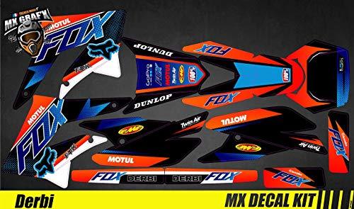 Kit Déco Moto para/MX Calcomanías Kit para Derbi 50 - Fox