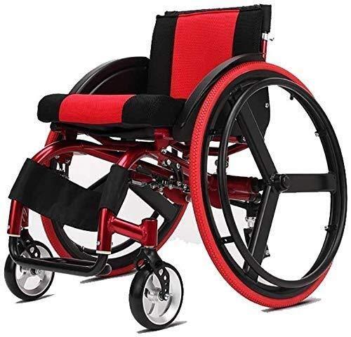 RONGW JKUNYU Rollstühle Sportlich Leicht Behinderter Rollstuhl Vierrad Roller Fahrrad Ultraleicht Sport Wettbewerbsrollstuhl