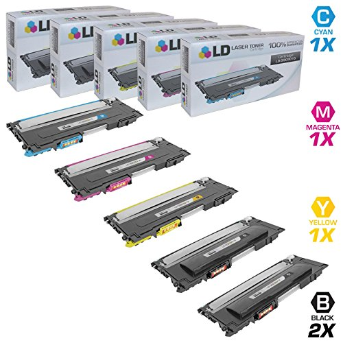 LD Compatible Toner Cartridge Replacements for Dell Color Laser 1230c 1235c (2 Black, 1 Cyan, 1 Magenta, 1 Yellow, 5-Pack)
