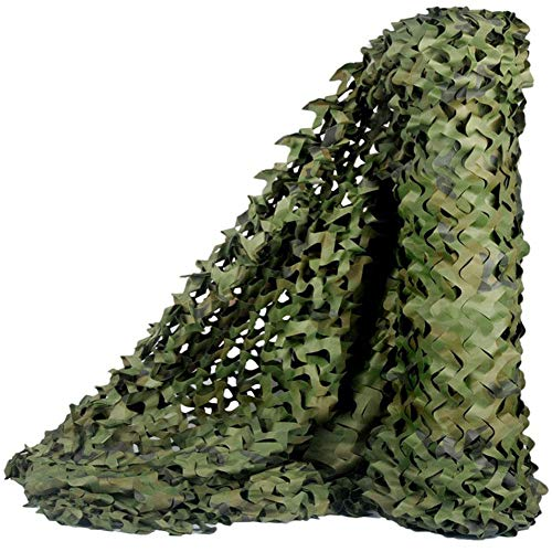 Dalovy Garden Camouflage Hunting Shooting Net Hide Military Army Camo Netting Woodland Sunscreen Nets Shade Netting for Camping Decoration Greenhouse,Jungle,7x10m