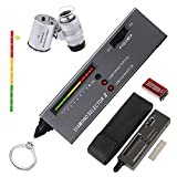 5. HMKIS Diamond Tester Pen, High Accuracy Jewelry Diamond Tester+ 60X Mini LED Magnifying, Professional Diamond Selector for Novice and Expert, Thermal Conductivity Meter
