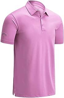 Callaway Mens Swingtech Solid Stretch Moisture Wicking Golf Polo Shirt
