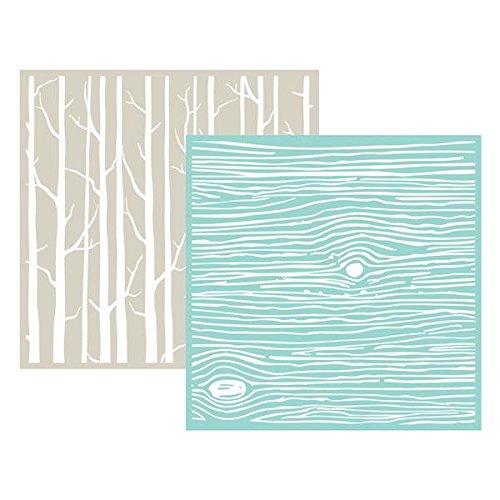 We R Memory Keepers Woodgrain Goosebumpz Embossing Folder 2 Per Package