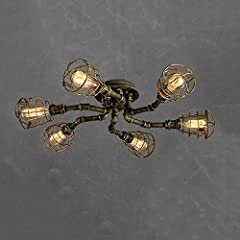 Classic retro iron Ceiling light, the international general E27 spiral lamp, easy to operate and install. Water pipe iron lamp body, shape are exudes a strong sense of the times, the design of scientific force evenly. Featured High-quality Iron, afte...