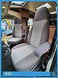 Fundas de Asiento compatibles con Autocaravana, Conductor y copiloto, número de Color: 822 (Gris Gris).