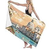 AIMILUX Toalla de Playa,Gran Canal de Venecia Italia Paisaje urbano histórico europeo Ciudad Torre Boho,Toallas de Baño Toallas de Acampada Piscina Natación Playa Toallas de Mano Ducha Toallas de Mano