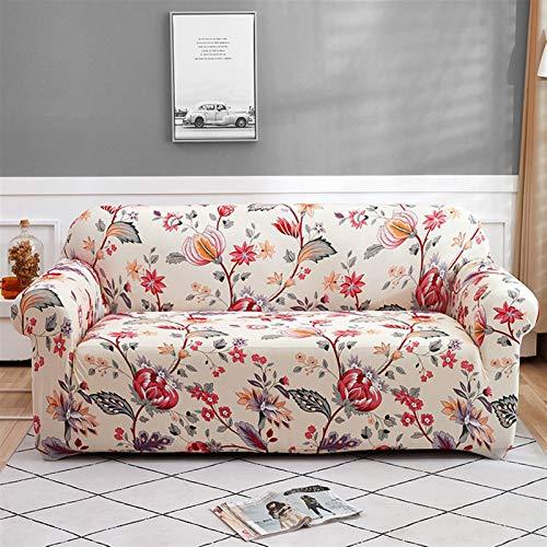 Fácil de instalar y cómodo cubierta de sofá. Cubierta de sofá reclinable, cubierta de sofá floral Cubierta de sofá elástica para sala de estar Sofá de esquina moderna Sofá Sofá Sillón Sillón cubierta