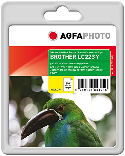 AgfaPhoto APB223YD Remanufactured Tintenpatronen Pack of 1