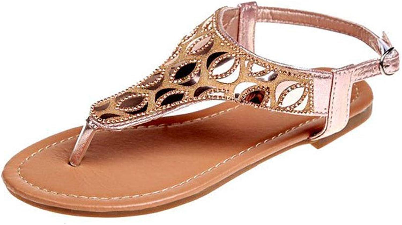 Summer Ladies high-top Buckle Sequined Sandals Bohemian National Wind Sandals Herringbone Open Toe Beach Sandals