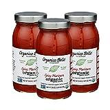 Organico Bello - Spicy Marinara Sauce - 25 oz (Pack of 3) - Certified USDA Organic, Non GMO, Gluten...