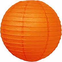 Kala Decorators 10 inch (25 cm* 25cm) Orange Hanging Paper Lantern(1 Pc) Paper Ball Lamp Shade for Diwali,Wedding, Party,Decoration