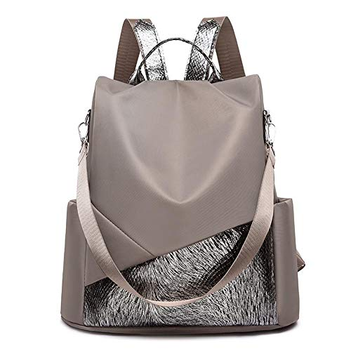 Female Anti-Theft Backpack Waterproof Oxford Women Backpack Fashion Women Travel Bag Brand Ladies Large Capacity Backpack (Color : Style B Camel)