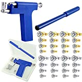 Ear Piercing Kit Gun with Studs Painless Stainless Steel Body Ear Self Piercing Tool Set Ear Nose Navel Machine for Women Men Girl Salon Home Beauty Use with 16 Pairs Earring Studs (4mm,5mm,6mm,8mm)
