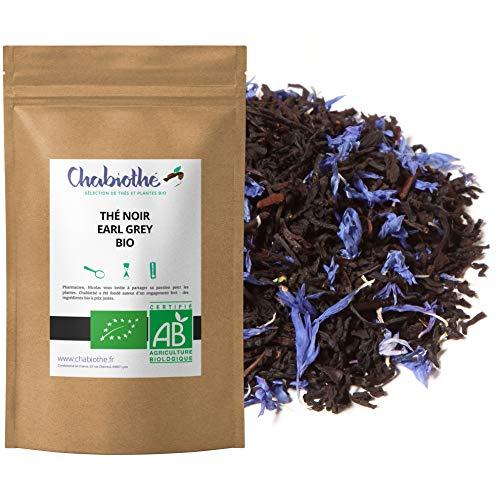 Té Negro Earl Grey BIO 200g - orgánico bergamota y flores de aciano - bolsa biodegradable