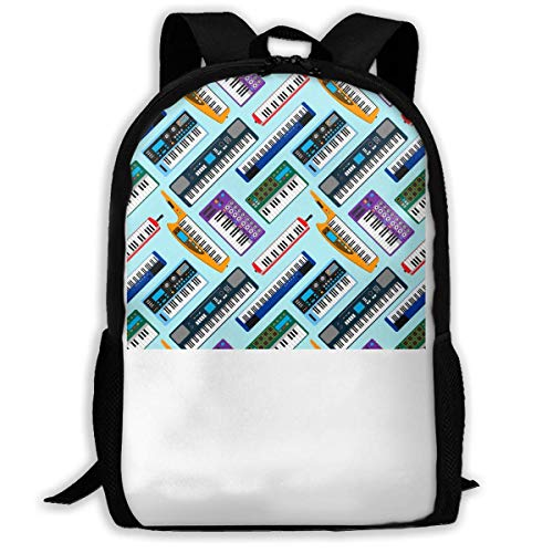 ADGBag Piano Musical Keyboard Equipment Fashion Outdoor Shoulders Bag Durable Travel Camping for Kids Backpacks Shoulder Bag Book Scholl Travel Backpack Kinderrucksack Rucksack