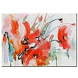 LYQSCL Leinwanddrucke,Einfache Aquarell Wirkung Rote Lilie