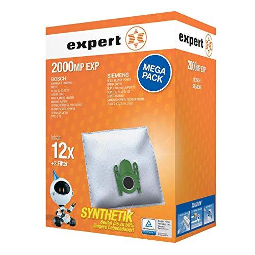 Expert 2000 MP EXP Staubbeutel Megapack 12x 2000EX und 2x Microfilter für Bosch Siemens