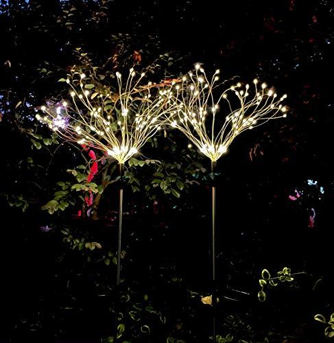 Beslands Solarleuchten Garten Deko Led Solar Gartenleuchten für Gartendeko, 2 Stück 120 LED Solar Feuerwerk Licht Weihnachten Starbright Lights Feuerwerk LED Dekoration Lampe Garden Lights