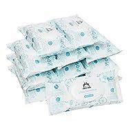 Amazon Brand - Mama Bear Ultra Sensitive Baby Wipes 12x60 (720 wipes-100% biodegradable fabric )