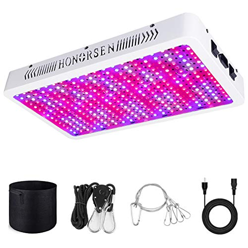 HONORSEN Newest 3000W Led Grow Light Full Spectrum Led Growing Light Double Switch Veg and Bloom Growing Plant Lights for Indoor Plant Veg Flower Growing Lamp