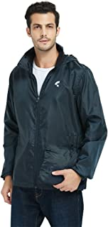 Somewell Waterproof Hooded Rain Jacket, Men's Windbreaker Outdoor Lightweight Packable Raincoat(6 Colors S-5XL)
