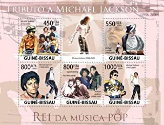 Guinea-Bissau Michael Jackson, Paul McCartney, Oprah Sheet of 5 Stamps GB9416a