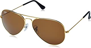 Ray-Ban Aviator Unisex Sunglasses (RB3025|58|Brown color)
