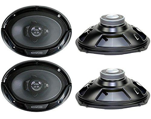 Kenwood 800 Watt 3-Way Car Audio Coaxial Speakers Stereo (6x9-inch)