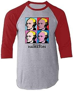Alexander Hamilton Pop Art Raglan Baseball Tee Shirt