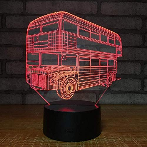 3D Nachtlicht Doppeldecker Tourismus Bus Elektronische Produkte 3D Visuelle Lichter Individuelle Geschenk Led Nachtlichter Automobil Led Usb 3D Lampe