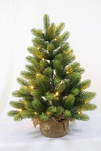 HOLIDAY STUFF Small Christmas Tree/Real Feel Aritificial Little Tabletop Christmas Tree prelit (PE-60cm)