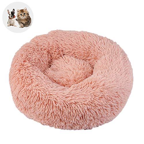Antistress Hundebett Rund, mit Reißverschluss, Gegen Stress und Angst, Runde Kissen für Hunde und Katzen (Größe und Farbe wählbar) - Rosa Ø 70 cm