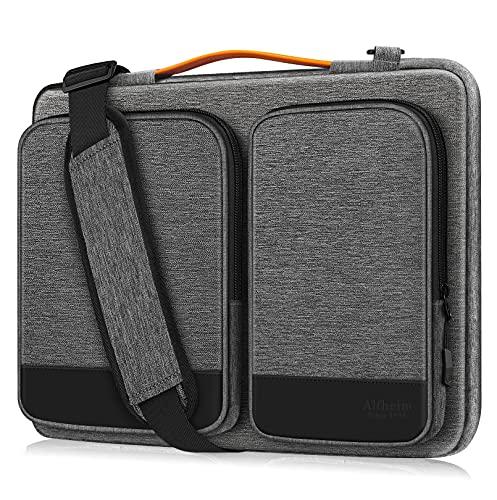 Alfheim 15,6-16 pollici Custodia Borsa PC, Impermeabile Antiurto leggero Cartella, protettiva per notebook a 360° compatibile con 16 pollici Macbook Pro A1398 Acer Dell Thinkpad(Grigio chiaro)