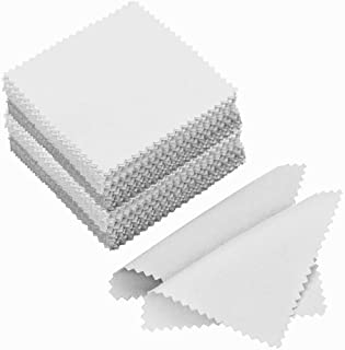 100 Pcs Premium Jewelry Polishing Cloth Cleaning Cloth For Platinum,Sterling Silver Jewelry