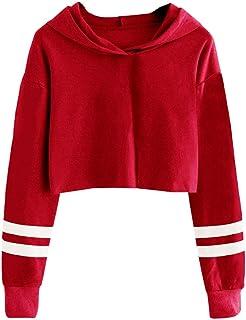 إيميلي بيلا كيدز كروب توبس بنات مخطط كم طويل أزياء هوديس البلوز البلوز بلوزات حمراء