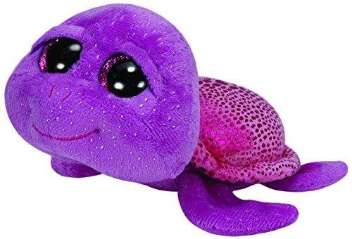 TY 36105 - Slowpoke - Schildkröte glitzerbesprenkelter Körper, pink glitzernder Panzer mit Glitzeraugen, Glubschi's, Beanie Boo's, 15 cm, lila