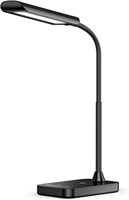 TaoTronics LED Desk Lamp, TT-DL11 Flexible Gooseneck Table Lamp,5 Color Temperatures with 7 Brightness Levels,USB Charging Port, Memory Function,7W,Official Member of Philips EnabLED Licensing Program