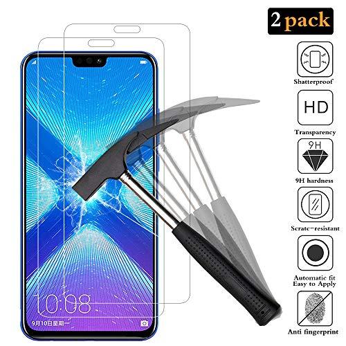 Schutzfolie für Huawei Honor 8X Displayschutzfolie [2 Stück] , HD Displayschutzfolie, 9H Härte Schutzfolie, [Anti-Kratzer/Bläschen/Fingerabdruck/Staub] Displayschutz Folie für Honor 8X