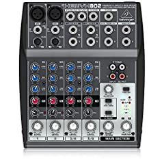 """Premium ultra-low noise, high headroom analog mixer 2 state-of-the-art XENYX Mic Preamps comparable to stand-alone boutique preamps Neo-classic """"British"""" 3-band EQs for warm and musical sound 1 post fader FX send per channel for external FX devices 1..."""