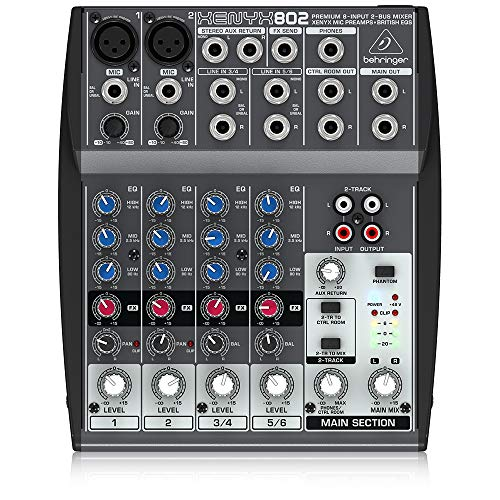 Behringer Xenyx 802 Premium 8-Input 2-Bus Mixer with Xenyx Mic Preamps and British EQs. Buy it now for 59.00