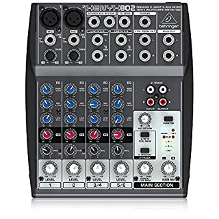 Behringer Xenyx 802 Premium 8-Input 2-Bus Mixer with Xenyx Mic Preamps and British EQs (B000J5XS3C) | Amazon price tracker / tracking, Amazon price history charts, Amazon price watches, Amazon price drop alerts