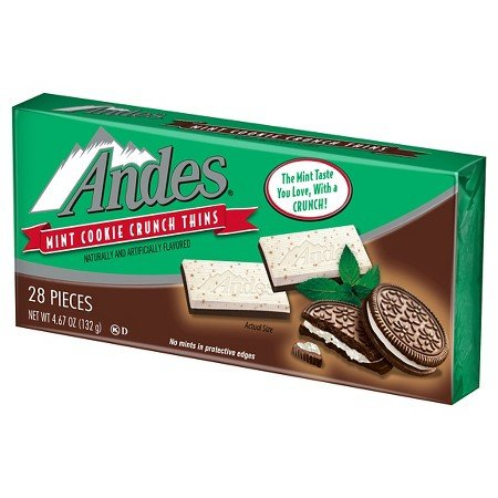Andes Christmas Mint Cookie Crunch Thins